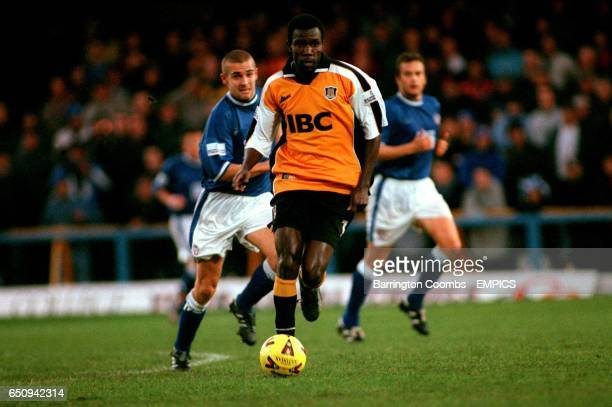 Hull City's Theodore Whitmore goes on a run through the Chesterfield defence