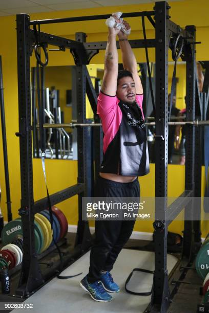 Hull FC's Bureta Faraimo works out in the gym during the media day at the County Road Training Ground Hull