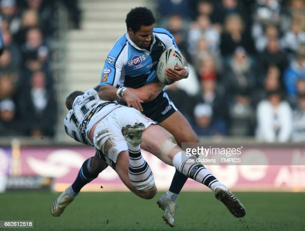 Hull FC's Danny Tickle and Harlequins RL's Rikki Sheriffe