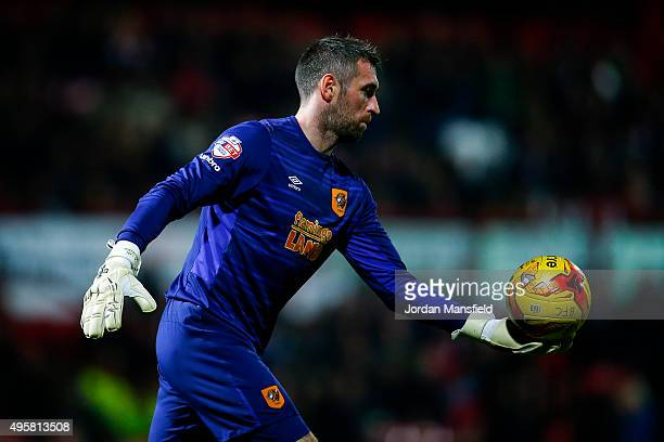 Hull goalkeeper Allan McGregor in action during the Sky Bet Championship match between Brentford and Hull City on November 3 2015 in Brentford United...