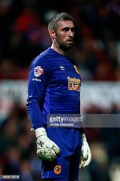 Hull goalkeeper Allan McGregor looks on during the Sky Bet Championship match between Brentford and Hull City on November 3 2015 in Brentford United...