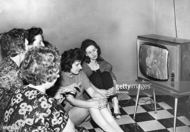 Hull housewives seen here watching the wedding of Princess Margaret on television at a Hull health club 24th April 1963