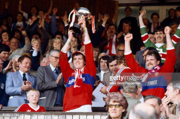 Hull Kingston Rovers captain David Hall lifts the Rugby League Premiership trophy after their 1810 victory over Castleford on Headingley in Leeds on...