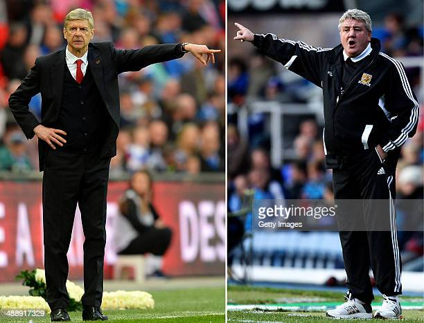 IMAGES Image Numbers 484396221 and 156583195 In this composite image a comparison has been made between Arsene Wenger Manager of Arsenal and Steve...