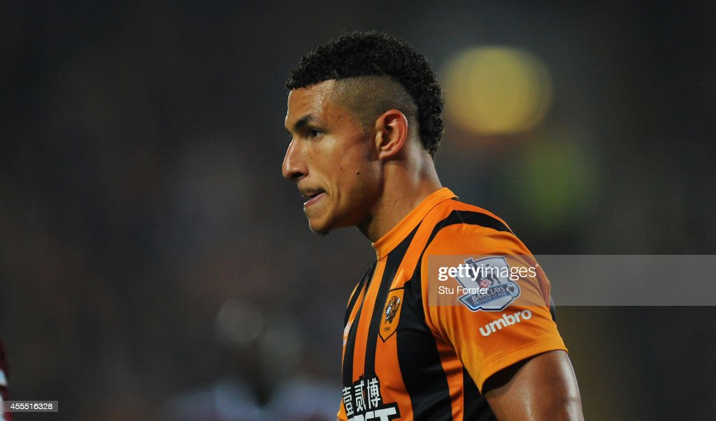 Hull player Jake Livermore looks on during the Barclays Premier League match between Hull City and West Ham United at KC Stadium on September 15, 2014 in Hull, England.
