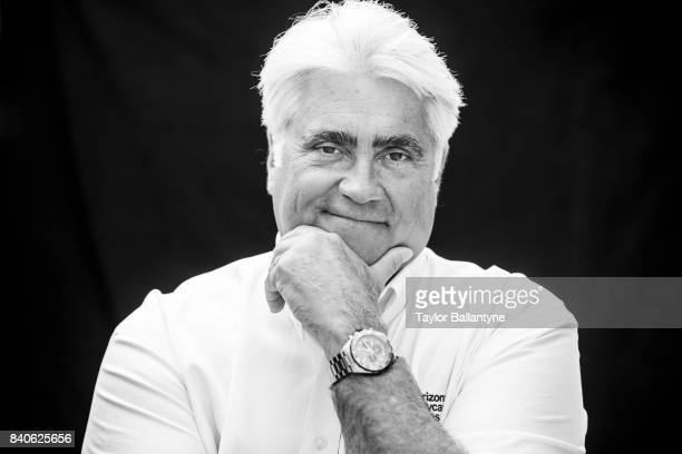 Hulman Company President and CEO Mark Miles is photographed for Sports Illustrated on August 20 2017 at Pocono Raceway Verizon IndyCar Series at Long...