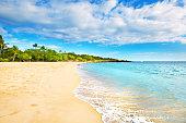 Hulopoe Beach of Lanai Island in Hawaii