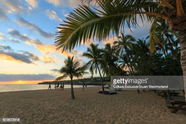 hulopoe beach park, lanai island, hawaii, usa - lanai stock photos and pictures