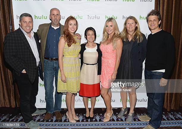 Hulu Acting CEO Andy Forssell actor Robert 'Bob' Clendenin actor Alexia Dox Hulu original content development executive Charlotte Koh actor Allison...