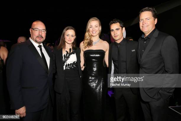 Hulu Chief Content Officer Joel Stillerman actors Alexis Bledel Yvonne Strahovski and Max Minghella and Hulu Senior Vice President Sales Peter Naylor...