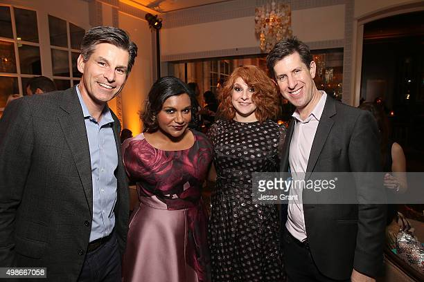 Hulu Chief Executive Officer Mike Hopkins Actress/Executive Producer Mindy Kaling actress Julie Klausner and Hulu VP and Head of Content Craig Erwich...