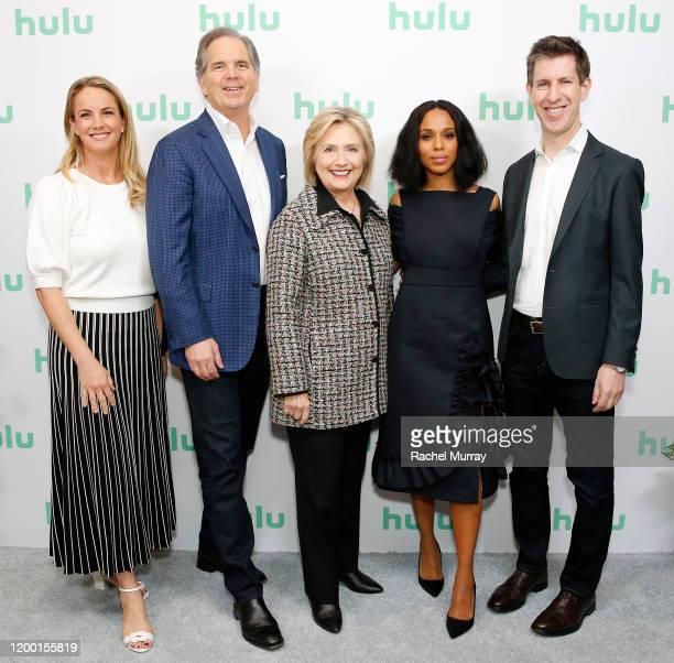 Hulu Chief Marketing Officer Kelly Campbell Hulu Chief Executive Officer Randy Freer Hillary Rodham Clinton Kerry Washington and Hulu SVP of...