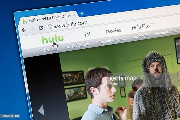 Hulu website homepage.