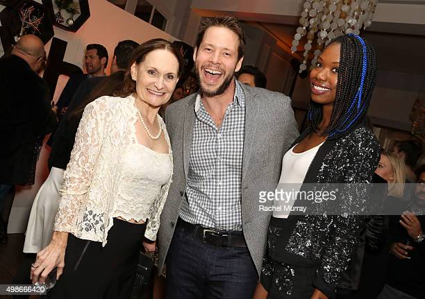 Hulu's The Mindy Project actors Beth Grant Ike Barinholtz and Xosha Roquemore attend the Hulu holiday party on November 24 2015 in Beverly Hills...