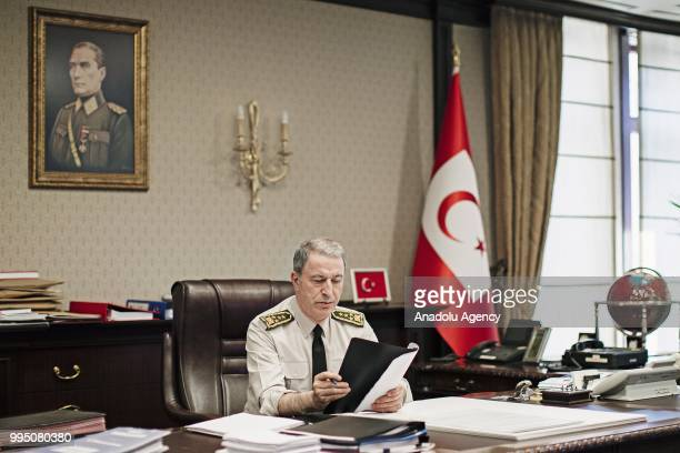 Hulusi Akar is appointed as Minister of National Defense of Turkey in the new government system in Ankara Turkey on July 06 2018