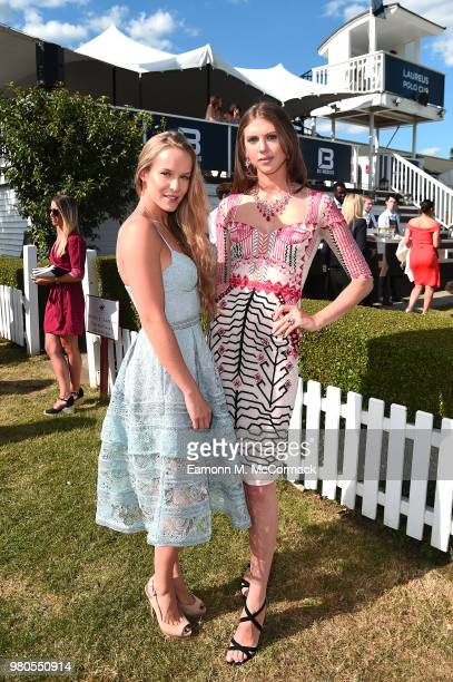 Hum Fleming and Sabrina Fletcher attend the Laureus Polo Cup the at Ham Polo Club on June 21 2018 in Richmond England