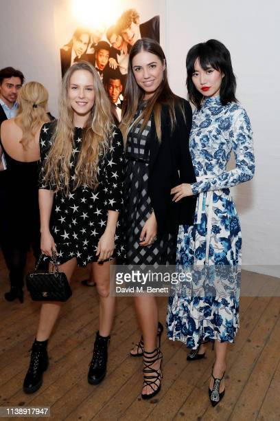 Hum Flemming Amber Le Bon and Betty Bachz at the Gentleman's Journal ecommerce site unveiling at My Beautiful City on March 28 2019 in London England