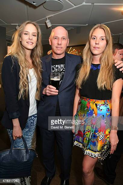 Hum Flemming Peregrine Armstrong Jones and Tor Dashwood arrive at the Private View of Firedance the inaugural art exhibition of artist Michael...