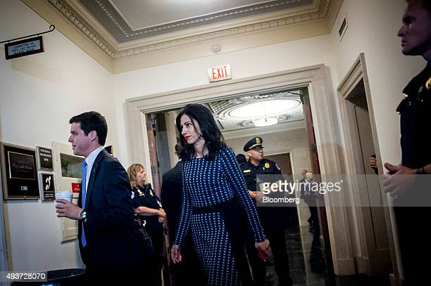 Huma Abedin a longtime aide to Hillary Clinton former US secretary of state and 2016 Democratic presidential candidate arrives for a House Select...