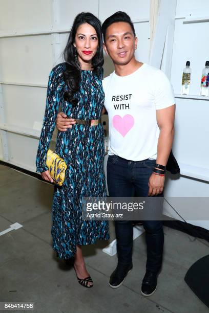 Huma Abedin and designer Prabal Gurung backstage for Prabal Gurung fashion show during New York Fashion Week The Shows at Gallery 2 Skylight Clarkson...
