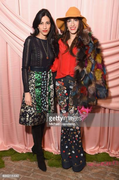 Huma Abedin and Heba Abedin attend the alice olivia by Stacey Bendet Fall 2017 Presentation at Highline Stages on February 14 2017 in New York City