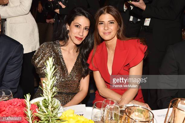 Huma Abedin and Marisa Tomei attend the 13th Annual Golden Heart Awards at Cipriani South Street on October 21 2019 in New York City