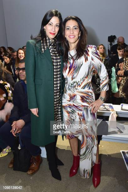 Huma Abedin and Rory Tahari attend Elie Tahari FW 19 Runway Show on February 7 2019 in New York City