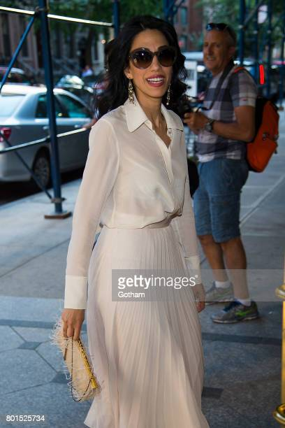 Huma Abedin attends a dinner honoring Anna Wintour on June 26 2017 in New York City