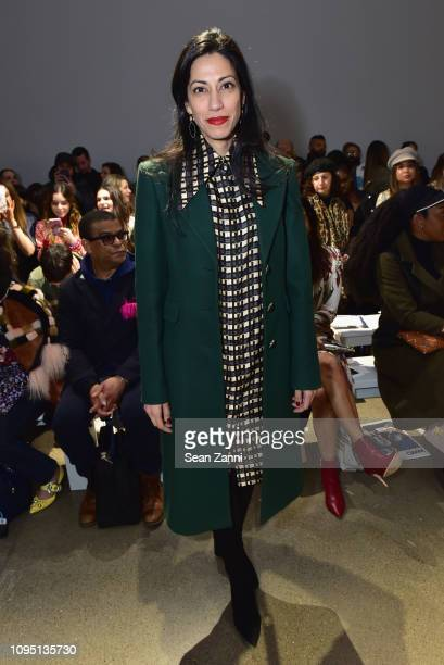 Huma Abedin attends Elie Tahari FW 19 Runway Show on February 7 2019 in New York City