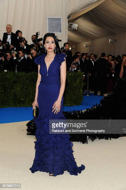Huma Abedin attends Rei Kawakubo/Comme des Garcons Art Of The InBetween Costume Institute Gala Arrivals at Metropolitan Museum of Art on May 1 2017...