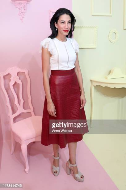 Huma Abedin attends the alice olivia by Stacey Bendet Spring 2020 Fashion Presentation at Root Studio on September 09 2019 in New York City