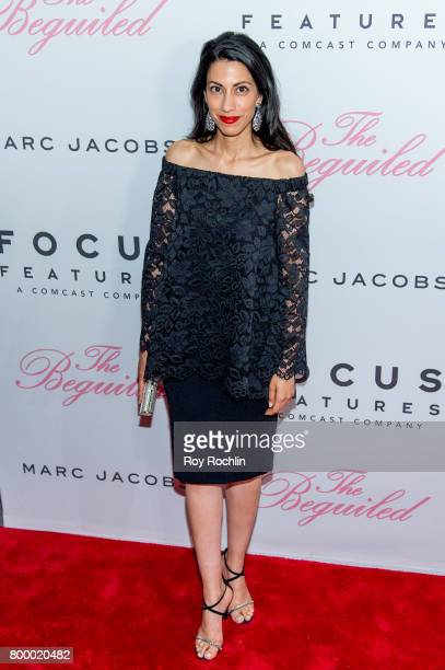 Huma Abedin attends The Beguiled New York premiere at The Metrograph on June 22 2017 in New York City