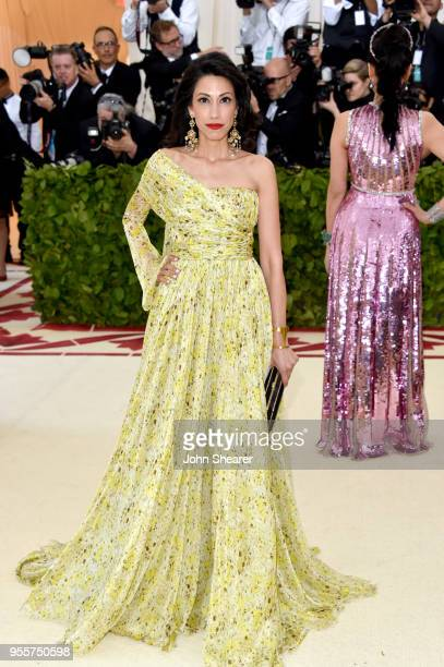 Huma Abedin attends the Heavenly Bodies Fashion The Catholic Imagination Costume Institute Gala at The Metropolitan Museum of Art on May 7 2018 in...