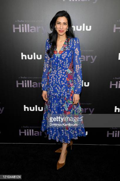 Huma Abedin attends the Hillary New York Premiere at Directors Guild of America Theater on March 04 2020 in New York City