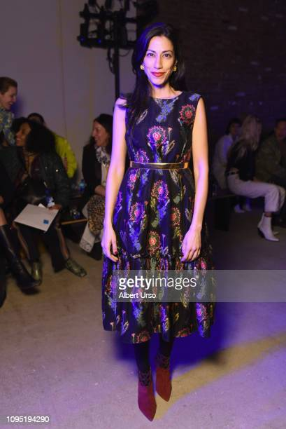Huma Abedin attends the Jonathan Cohen front row during New York Fashion Week The Shows on February 7 2019 in New York City