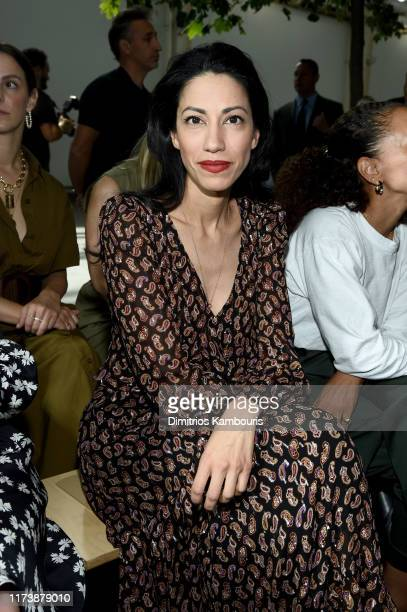 Huma Abedin attends the Michael Kors Collection Spring 2020 Runway Show on September 11 2019 in the Brooklyn borough of New York City