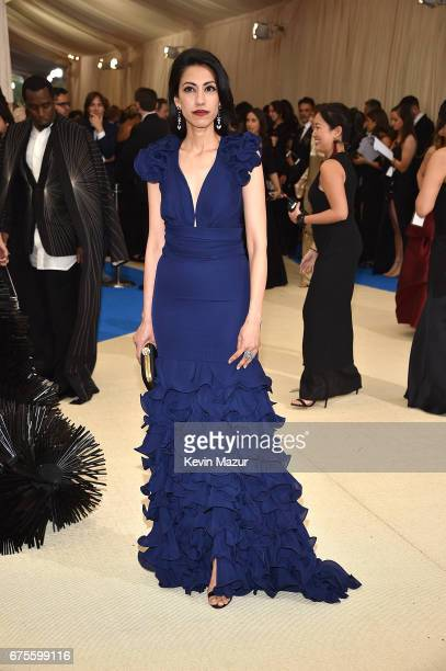 Huma Abedin attends the Rei Kawakubo/Comme des Garcons Art Of The InBetween Costume Institute Gala at Metropolitan Museum of Art on May 1 2017 in New...