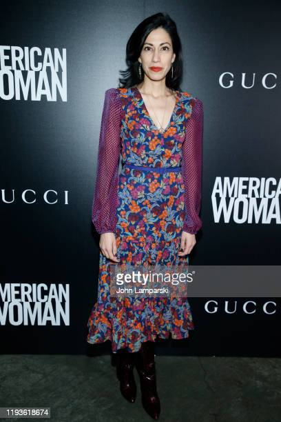 Huma Abedin attends the screening of American Woman at Metrograph on December 12 2019 in New York City