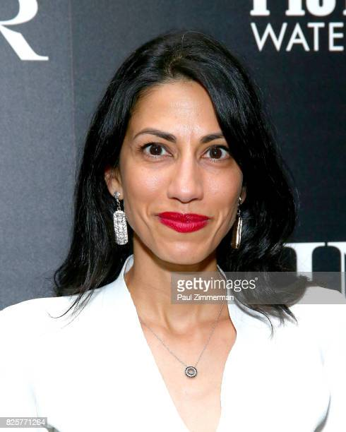 Huma Abedin attends The Weinstein Company With FIJI Grey Goose Lexus And NetJets Host A Screening Of 'Wind River' Arrivals at The Museum of Modern...