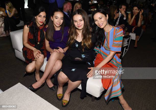 Huma Abedin Chloe Murdoch Grace Helen Murdoch and Wendi Deng Murdoch attend the 2017 DVF Awards at United Nations Headquarters on April 6 2017 in New...