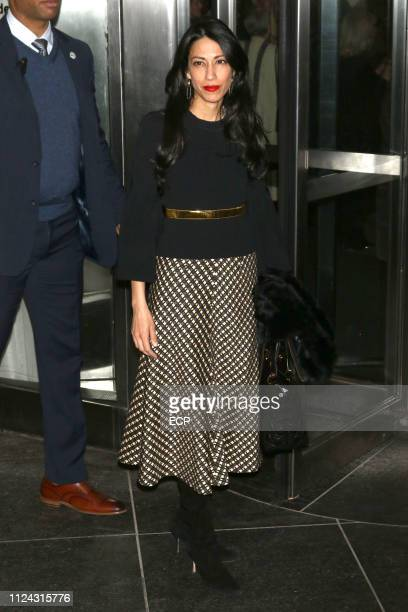 Huma Abedin is seen at a screening of Serenity held at the MOMA on January 23 2019 in New York City