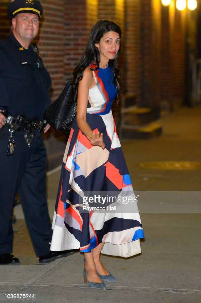 Huma Abedin is seen in midtown on September 20 2018 in New York City