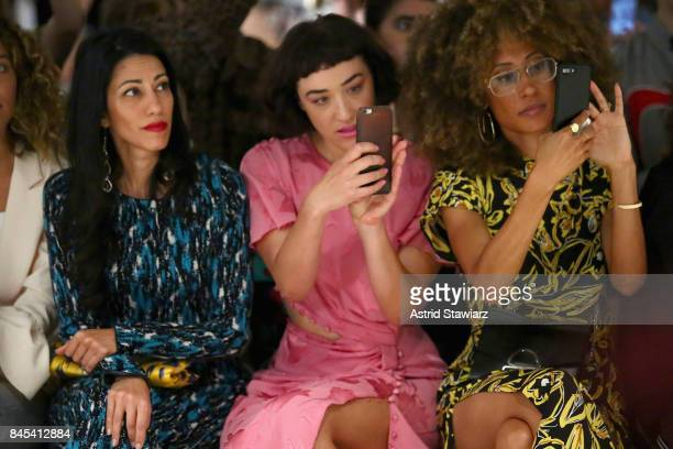 Huma Abedin Mia Moretti and Editor in Chief of Teen Vogue Elaine Welteroth attend Prabal Gurung fashion show during New York Fashion Week The Shows...
