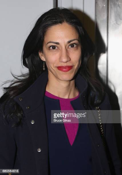 Huma Abedin poses at An American Daughter Benefit Reading at The Tony Kiser Second Stage Theatre on May 8 2017 in New York City