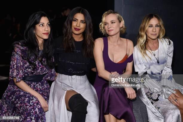 Huma Abedin Priyanka Chopra Diane Kruger and Sarah Jessica Parker attend the Prabal Gurung collection during New York Fashion Week The Shows at...