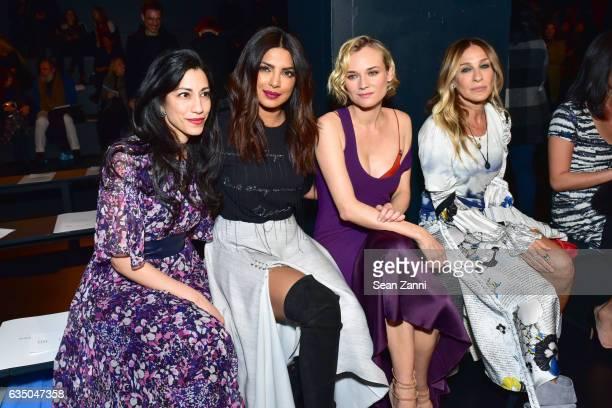 Huma Abedin Priyanka Chopra Diane Kruger and Sarah Jessica Parker attends the Prabal Gurung show during New York Fashion Week at Skylight Clarkson Sq...