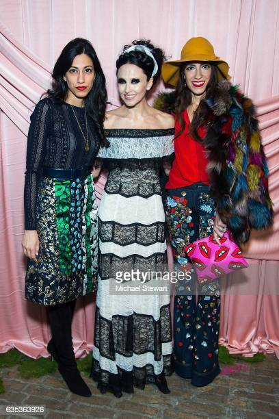 Huma Abedin Stacey Bendet and Heba Abedin the Alice Olivia by Stacey Bendet presentation during February 2017 New York Fashion Week at Highline...