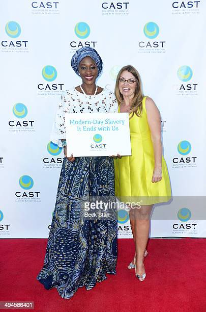 Human and civill rights and democracy activitst Hafsat Abiola and CEO of CAST Kay Buck arrive at CAST 16th From Slavery To Freedom Gala at Skirball...