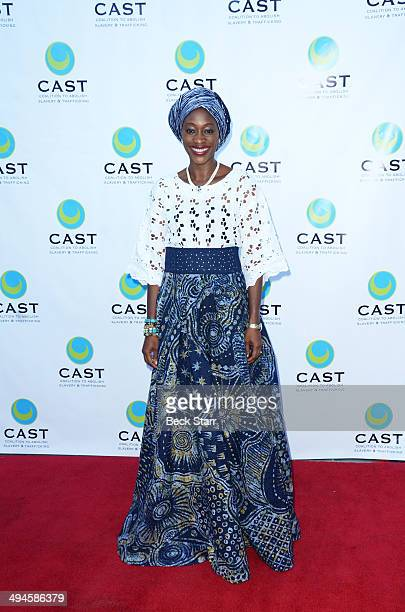 Human and civill rights and democracy activitst Hafsat Abiola arrives at CAST 16th From Slavery To Freedom Gala at Skirball Cultural Center on May 29...