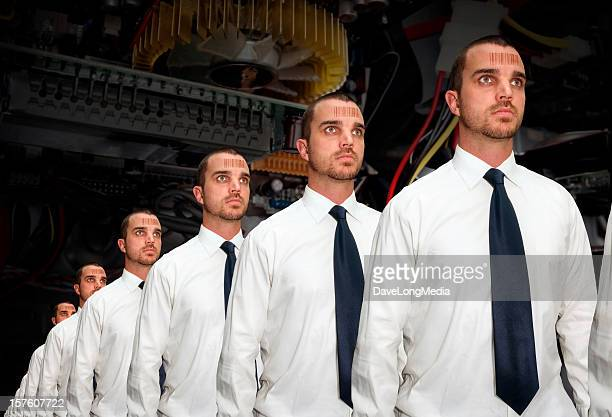 human assembly line - cloning stock pictures, royalty-free photos & images